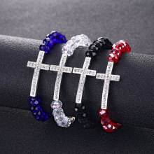 Crystal women's bracelet Charm Colorful Natural stone Crystal Cross bracelets Crystal bracelet for women Cheap wholesale