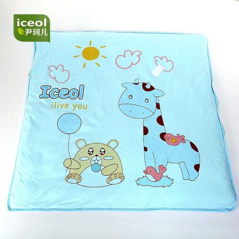 Cotton Newborn Baby Blanket Liner Sleepsacks Pink Blue New Cartoon Character Baby Infant Swaddle Four Seasons Sleeping Bag<br>