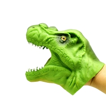 Animal Gloves Hand Puppet Dolls Rubber Dinosaur Hand Puppets Story Telling Props Funny toy Simulation Animal Dinosaurs Doll(China)