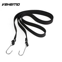 Vehemo 2m Heavy Duty Rubber Tarp Tie Down Straps Bungee Elastic Strong Hook Luggage Helmet Net Mesh For Bike Motorcycle Car(China)