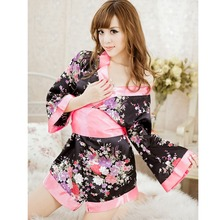 Adult Sex Toys Japanese Cosplay Uniform For Women Lolita Maid Outfit cherry blossom Large Bowknot Costumes Erotic Sex Game FB(China)
