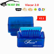 Super Mini V2.1 ELM327 Bluetooth Viecar 2.0 OBD2 Auto Code Reader ELM 327 Works on Andriod/PC ELM-327 Use Easier Than Before