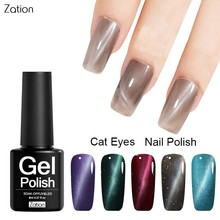 Zation Nail Art Gel Polish Magnetic Gel Nail Polish Base Coat Top Coat Gel Polish Magnet Cat Eye Nail Gel chameleon Enamel Paint(China)