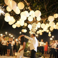 "6inch 6"" 15cm White Chinese Paper Lanterns For Party Wedding Decoration Supplies White Hanging Paper Ball LED Lamp"