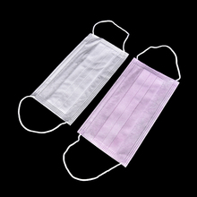 10 Pcs/lot Dental Disposable Medical Anti Flu Dust Mouth Surgical Face Mask Respirator Nonwoven Random Colors(China)
