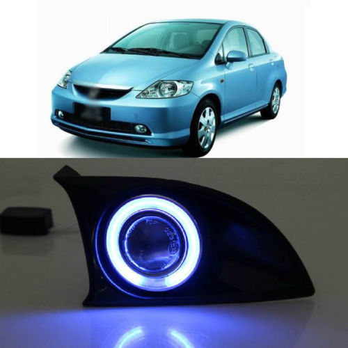 Innovative Super CCFL Angel Eye Fog Light Projector Lens for Honda Fit 2005-2007<br><br>Aliexpress