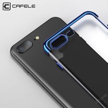 CAFELE Transparent Ultra Thin Case for iphone 8 7 Silicone TPU Plating Case for iphone 8 7 Plus Soft Touch Luxury Foldable Cover(China)