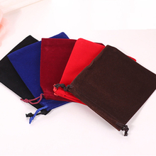 10Pcs/lot 7*9cm High quality Jewelry Wedding velvet Gift Pouches gift packing Bags Jewelry Pouch(China)