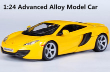 1:24 Advanced alloy car toy, high simulation McLaren MP4-12C car model, perfect collection model vehicle, free shipping