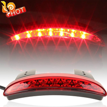 Bike Motorcycle Lights Cafe Racer Rear Fender Edge Red LED Brake Tail light Motocicleta For Harley Touring Sportster XL 883 1200