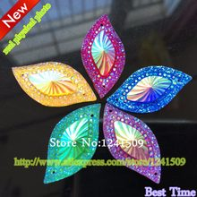 Promotion Shiny Crystal Resin Stones Mix Color 15x30mm 80Pcs Circle Sparkly  Marquise shape Flatback Sewing Wedding Accessory A70 37b2371c75e0