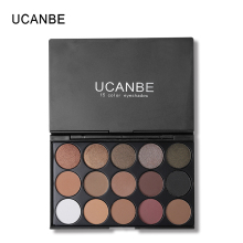 Ucanbe Full 15 Color Matte Pigment Eyeshadow Palette Makeup Set Shimmer Nude Eye Shadow Earth Color Smoky Eyes Glitter Cosmetics(China)