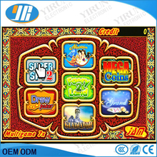 Multigame 7X board casino game pcb Red Slot Game Board 7 in 1 poker games for Casino Machine gambling Machine(China)
