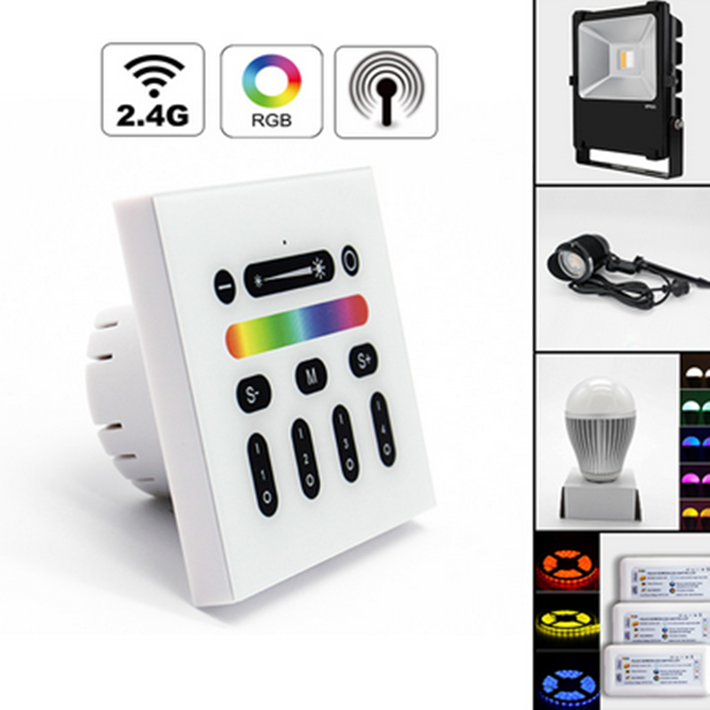 Mi light 2.4G 4-Zone Touch Screen RGB RGBW Led Controller Wireless RF Remote Controller for Mi Light Led Bulb Led Strip Light<br>