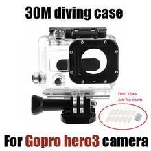For Gopro Accesssories 30M Underwater Waterproof Case Housing  Box for Gopro hero 3 hero3+ hero4