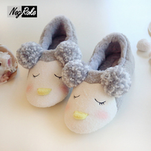 Cute sheep warm winter shoes women fluffy slippers plush couples home slippers women shoes soft bottom fenty pantufas femme