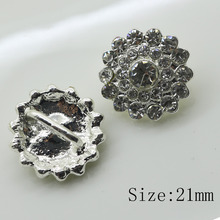 New 10pc srystal rhinestone Button sewing clothing button Wedding invitations decorate hair flower center scrapbooking(China)