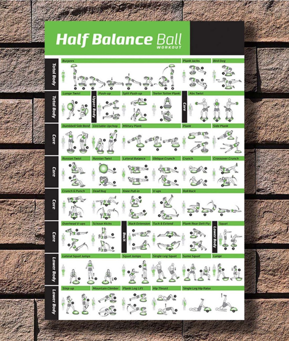 B-569 Bodyweight Workout Body Exercise Training Chart 24x36 27x40 Fabric Poster