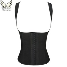 corset latex waist cincher latex waist trainer waist trainer corset latex corselet corsets and bustiers women sportes suit(China)