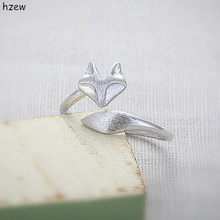 hzew Wedding ring Cute Fox Ring Gold/Silver fox Midi ring Unique adjustable Animal Rings