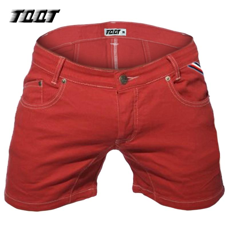 TQQT man jean shorts midweight slim jeans straight low waist 5 pockets short pleated stretch colored short jeans 5P0602Îäåæäà è àêñåññóàðû<br><br>