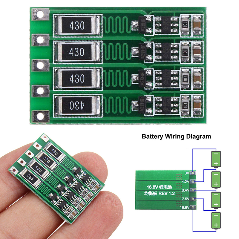 4S 16.8V lithium battery 18650 Battery balance Board full charge Balance Circuit