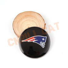 1x 55mm 3D New England Patriots Logo Car Auto Steering Wheel Center Hub Cap Emblem Badge Decal Sticker Universal