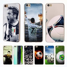 Ronaldo football player Soccer Ball style clear phone shell Case for Redmi 3s 4x 4A Note3 note4 case for Xiaomi Mi 6 5 5s