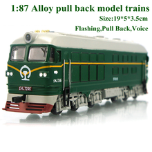 New alloy 1: 87 alloy pull back train car engine train classic children's model toys diecasts vehicles juguetes hot sale