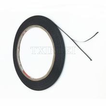2mmX 10m Double Sided Adhesive Black Foam Tape for Cell Phone Repair Gasket Screen PCB Dust Proof (0.3mm Thick)