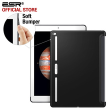 Case for iPad Pro 12.9 inch, ESR Soft TPU Corner Bumper Protection Charcoal Gray Back Shell Case for iPad Pro 12.9 inches 2015