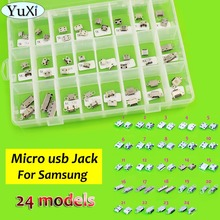 24 different models,48pc/lot Micro USB connector for samsung i9100 i9000 i9103 i9220 N7100 i8160 i8260 Note 3 T210 S5 J5 S7 S8(China)