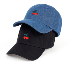 VORON 2017 New Arrival Dad Hat Leisure Fresh Fruit cap Embroidery Hat Strawberry Banana Cherry Orange Peach Baseball Cap For W(China)