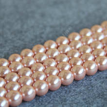 12mm Orange Shell Pearl Loose Beads Fit for Making Bracelet Necklace DIY Women Manual Jewelry Accessories Gift Wholesale(China)