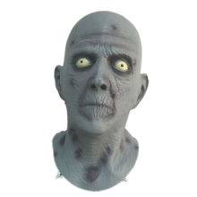 Horror Old Man Latex Mask Terror Blue Male Head Rubber Masks Halloween Carnival Masquerade Zombie Cosply Party Fancy Dress Props(China)
