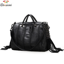 DORANMI Luxury Brand Designer Boston Totes For Women 2017 New Fashion Rivet Decorated Hot Pillow Handbag Good Quality Bag STB029