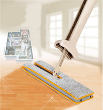 360 Degree Rotation Double-Side Flat Mop Home Cleaning Tool Hands-Free Washable Floor Cleaner Telescopic Washing Clean Sweeper(China)