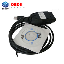 New for FIAT KM TOOL Odometer Mileage Correction Programmer for FIAT KM TOOL Program via OBD2 OBD 2 auto tool Free shipping