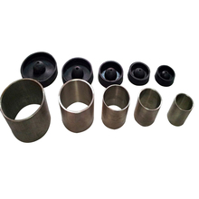 NEW 5PC SET DENTAL STAINLESS Steel ROUND CASTING FLASKS RINGS INVESTMENT FORMERS W/BASE(China)