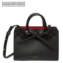 2017 summer MANSURSTUDIOS  women Split leather Sun bag ,mansur lady leather shoulder bag,leather tote bag,Travel Bag