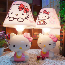 2017 New Arrival Hello Kitty USB Plugin Lamp Cute Cartoon Design Warm Light for Bedroom Desk Bedside Lamp Best Cheap Family Gift(China)
