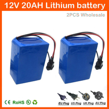 12V 20Ah 200W 3S Lithium ion Battery Pack 12.6V 20AH for street light / CCTV Camera / LED Power 12.6V 3A charger 2PCS Wholesale(China)