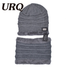men Skullies & Beanies warm soft warm fur winter hat for men Knitted thick velvet Beanies hat Bonnet 2017 new(China)