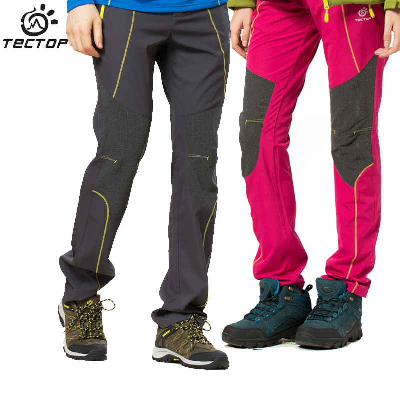 TECTOP Anti-UV Outdoor Quick Dry Waterproof Pants Men Softshell Pants Men Waterproof Windproof Softshell Hiking Pants Women<br>