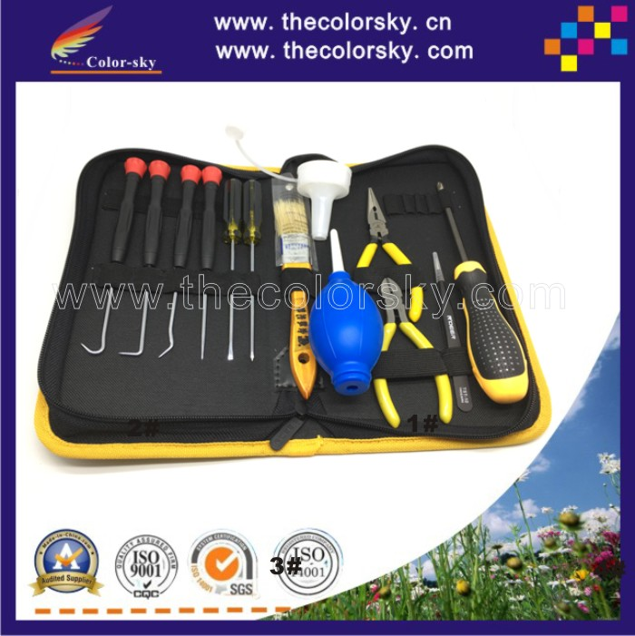(ACC-TOOL14) professional tool kit to remanufacture toner cartridge for HP for canon for brother for samsung for dell (14 in 1)<br>
