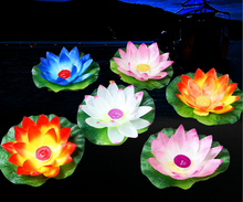 20pcs/lot Lotus Candles Lanterns Floating Flower Lantern Lotus Flower Lamp Floating Wishing Lamp Wedding Wishing Water Lanterns