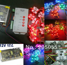 100pcs SPI programmable WS2801 4LED Pixel Module 5050 RGB SMD Waterproof 12V 20pcs/string+T-1000s SD controller+15A power supply(China)