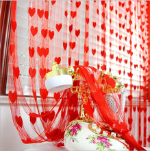 1*2 m Romantic Pursuit heart line door curtain wedding/love curtain decorated living room off the entrance curtain