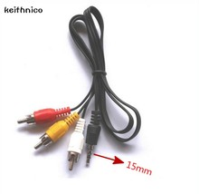 KEITHNICO 1PC 3.5mm Jack Plug to 3 RCA Adapter Cable Male to Male DVD VCR Audio Video Stereo Playbac TV AV Cable Wire Cord(China)