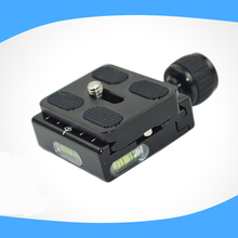 IN STOCK QR-50 Square Clamp Adapter Plate with Gradienter for Quick Release Plate for tripod Ball Head Arca Swiss RRS Wimberley